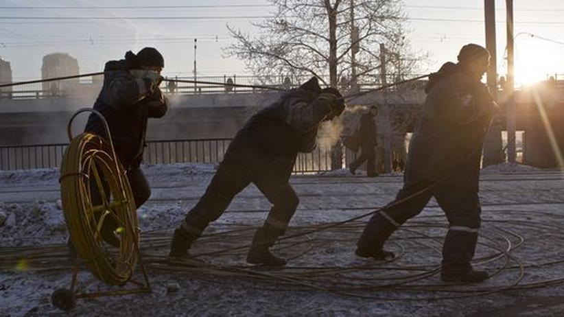 Dauerfrost: In Russland sind mehr als 120 Menschen erfroren
