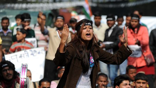 Protest gegen sexuelle Gewalt in Neu-Delhi