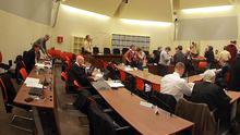 Der Gerichtssaal im OLG München