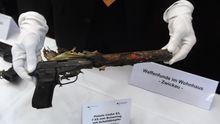 Die Pistole Ceska 83, 7,65 Browning mit Schalldämpfer war in neun der zehn NSU-Morde die Tatwaffe (Archiv).