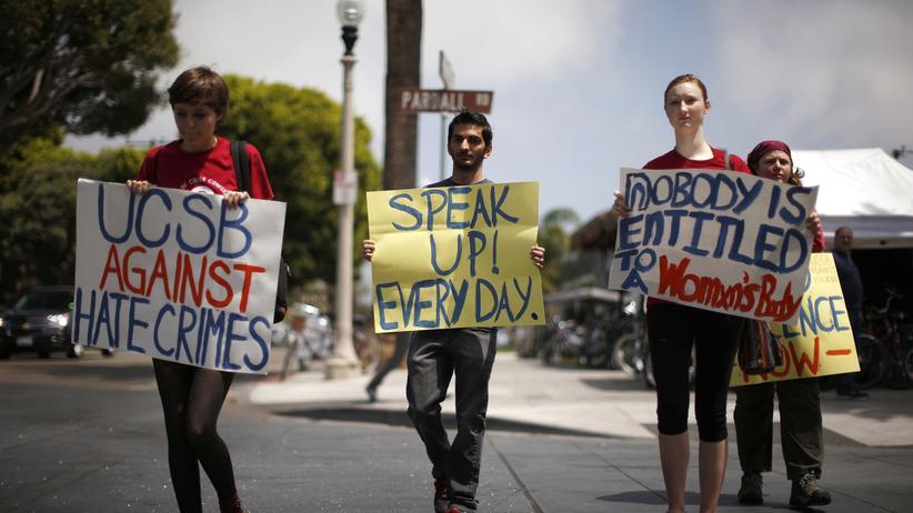 Frauenhass: Studenten der University of California, Santa Barbara (UCSB) protestieren gegen sexuelle Gewalt