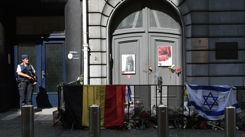 Jüdisches Museum: Der Eingang des Jüdischen Museums in Brüssel
