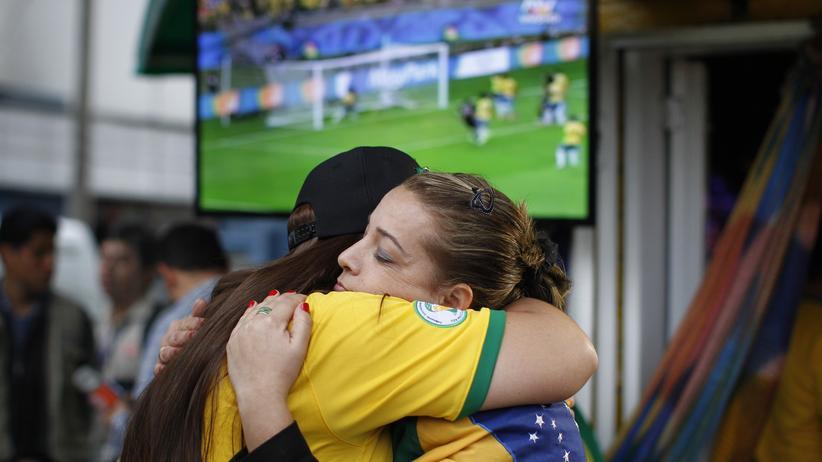 Fussball-WM: Traurige brasilianische Fans