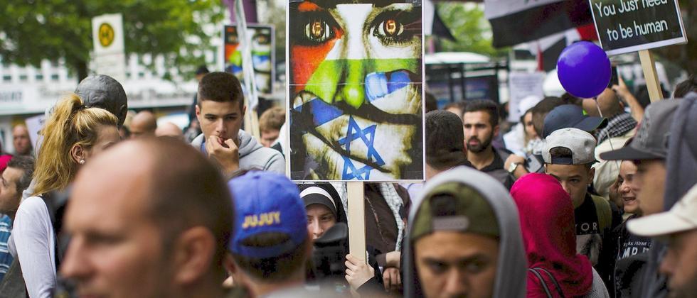 Solidaritätsdemonstration für die Palästinsenser in Berlin (Archivbild von Freitag)