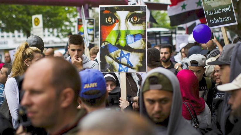 Antisemitismus: Solidaritätsdemonstration für die Palästinsenser in Berlin (Archivbild von Freitag)