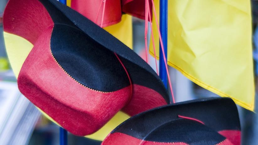 Cowboy-Hüte in Deutschland-Farben