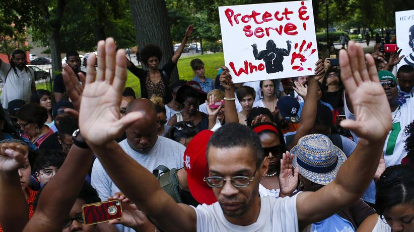 USA: Protest gegen den gewaltsamen Tod von Michael Brown, in New York
