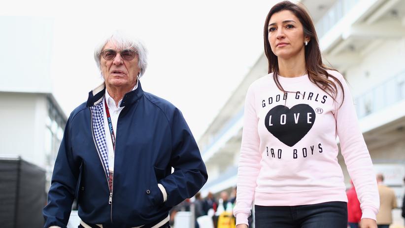 Einkommensstudie: Der Milliardär Bernie Ecclestone mit seiner Frau Fabiana Flosi