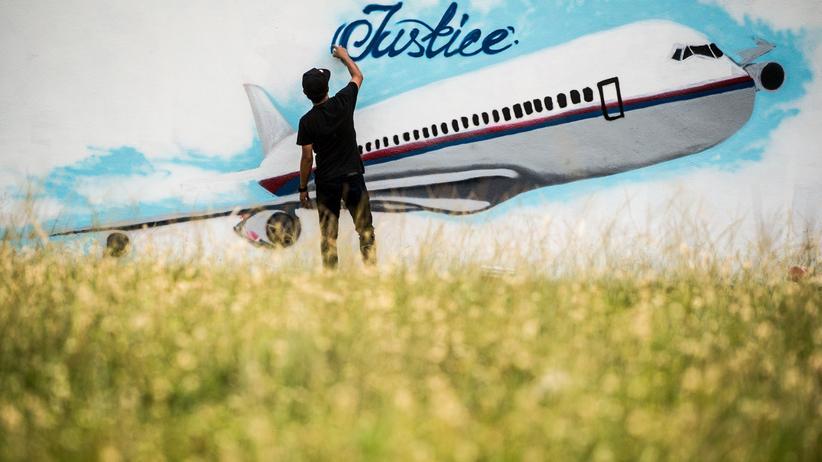 Kopfgeld: Ein Graffito von MH17