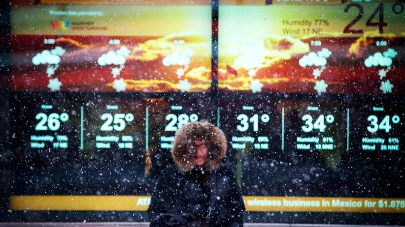 New York: De Blasios Schneeprobe