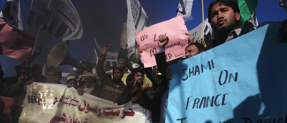 Proteste Charlie Hebdo Pakistan