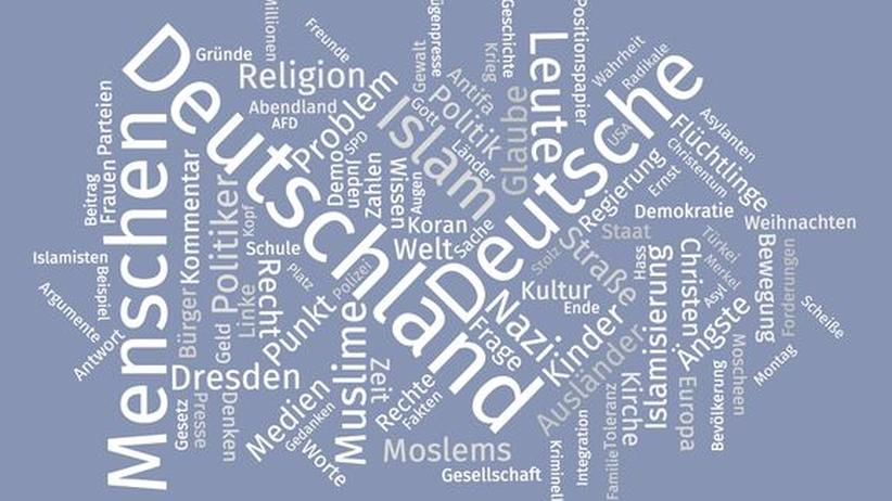 Pegida Fecbook Kommentare Wordle