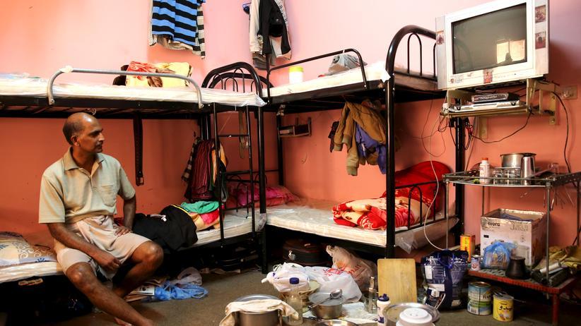 Amnesty International : Ausländischer Gastarbeiter in Doha, Katar