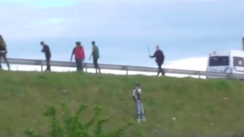 Polizeigewalt Flüchtlinge Calais