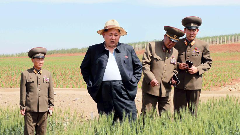Missernten: Nordkoreas Staatschef Kim Jong Un besichtigt den Landwirtschaftsbetrieb Nummer 1116.