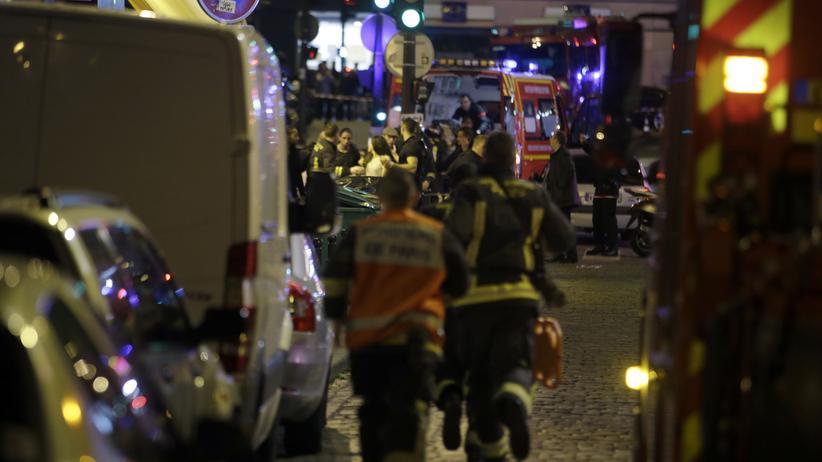 Sicherheitskräfte im 10. Arrondissement von Paris