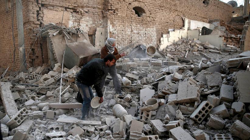 Syrien: Einer der Orte im Duma-Distrikt nahe Damaskus, die durch die Raketenangriffe zerstört wurden