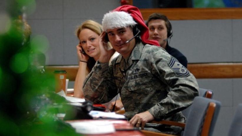 Das US-Militär zeigt jedes Jahr an Weihnachten ein Live-Radar von der Route des Weihnachtsmanns.