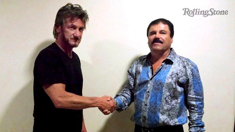 """Joaquín Guzmán: Schauspieler Sean Penn bei seinem Treffen mit Joaquín """"El Chapo"""" Guzmán in Mexico"""