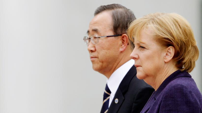 WikiLeaks: Bundeskanzlerin Angela Merkel und UN-Generalsekretär Ban Ki Moon in Berlin