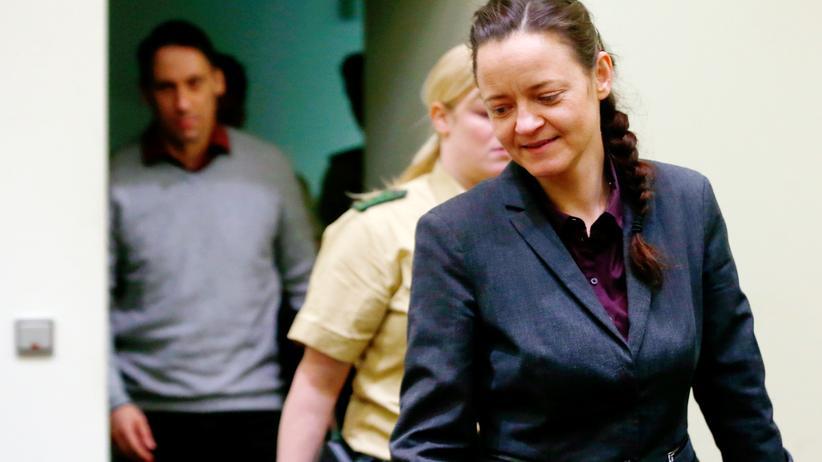NSU-Prozess: Die Hauptangeklagte im NSU-Prozess, Beate Zschäpe, im Gerichtssaal (Archivbild)