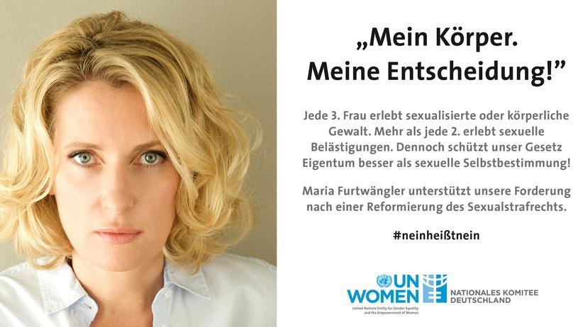 Sexuelle Gewalt: Die Schauspielerin Maria Furtwängler ist eine der Unterstützerinnen der Kampagne.