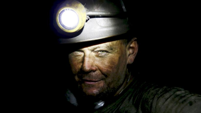 Kohle: Ein polnischer Grubenarbeiter