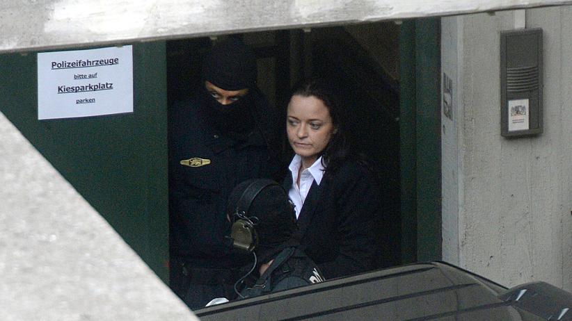 Beate Zschäpe vor dem Gericht in München