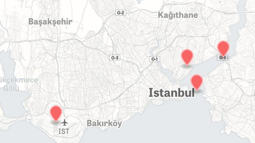 Karte Orte Putschversuch Türkei