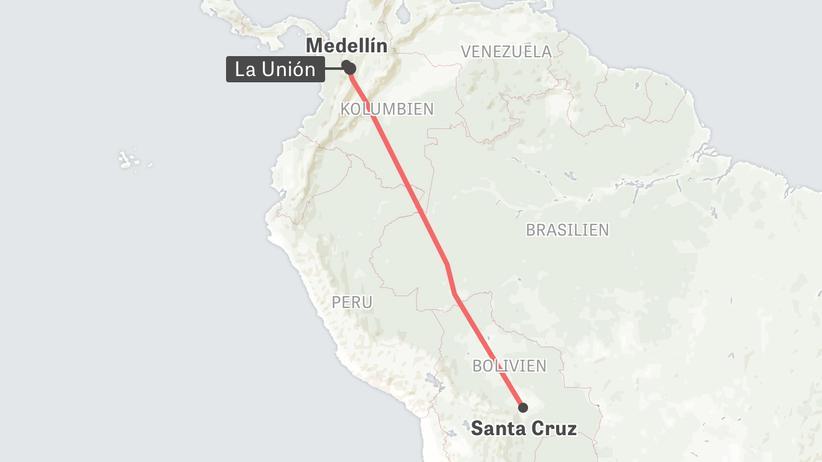 Kolumbien: Überlebende von Flugzeugunglück in Kolumbien geborgen