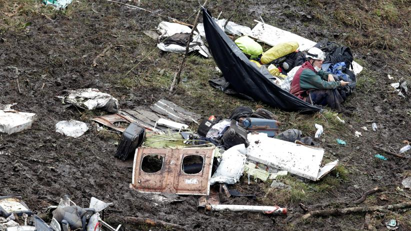 Kolumbien: Die Trümmer der abgestürzten Maschine nahe Medellín