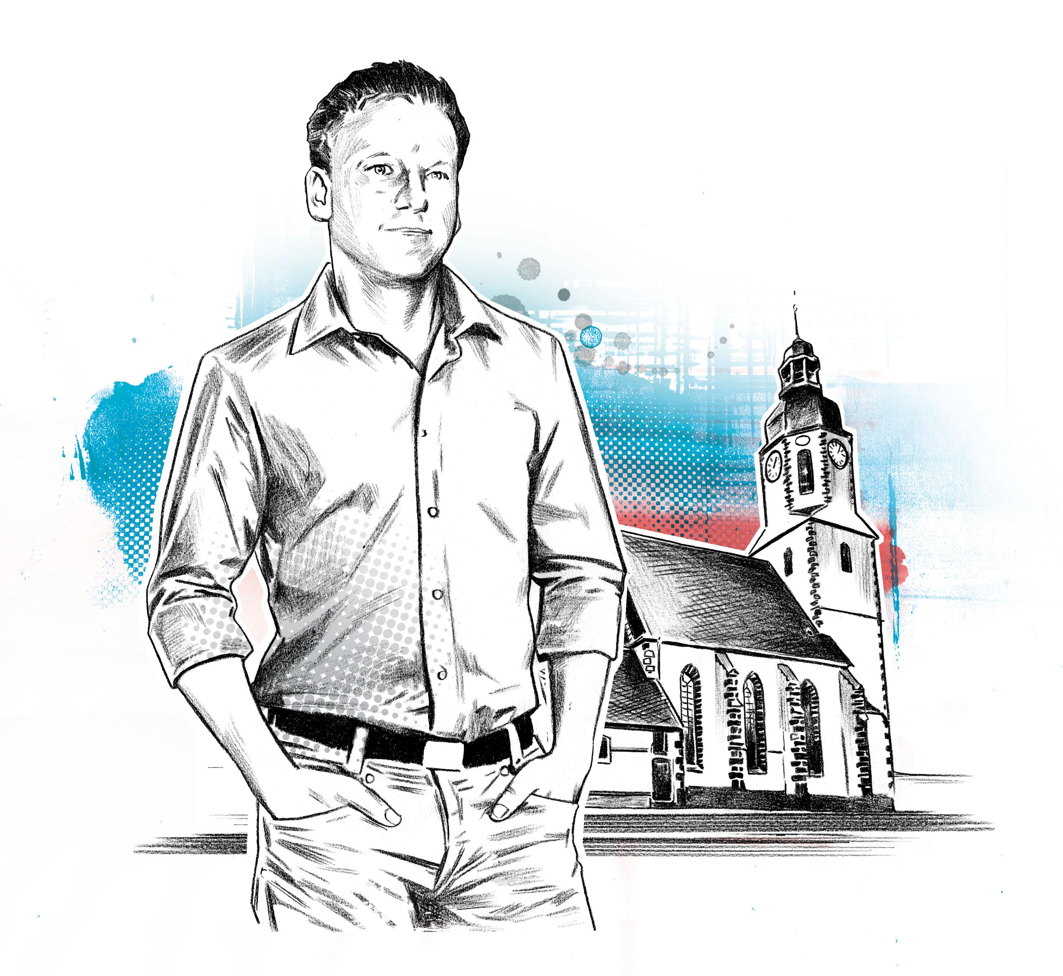 """Evangelische Kirche: Thomas Wawerka, 41, bezeichnet sich selbst als """"rechtskonservativ""""."""