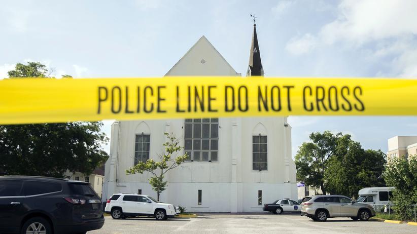 Charleston: Die AME-Emanuel-Kirche in Charleston im Jahr 2015 nach dem Attentat