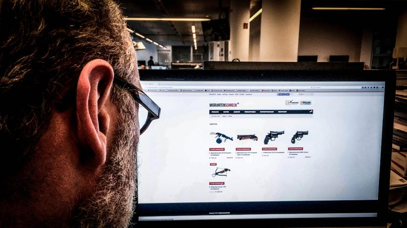 """Der Onlineshop von """"Migrantenschreck""""."""