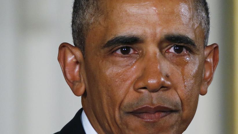 Emotionen von Politikern: Seit Barack Obama sind Tränen im harten Politikbetrieb gern gesehen.