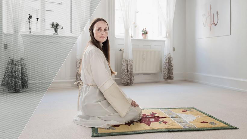 Die Imamin Sherin Khankan im Gebetsraum der Mariam Moschee in Kopenhagen © [M] Linda Kastrup/Scanpix Denmark/AFP/Getty Images