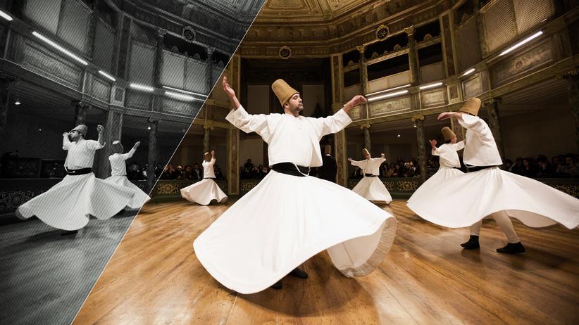 Sufismus: Tanzende Derwische bei einer Zeremonie in Istanbul