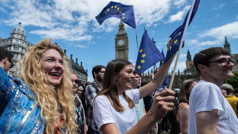 Demokratien: Teilnehmer einer pro-europäischen Demonstration in London