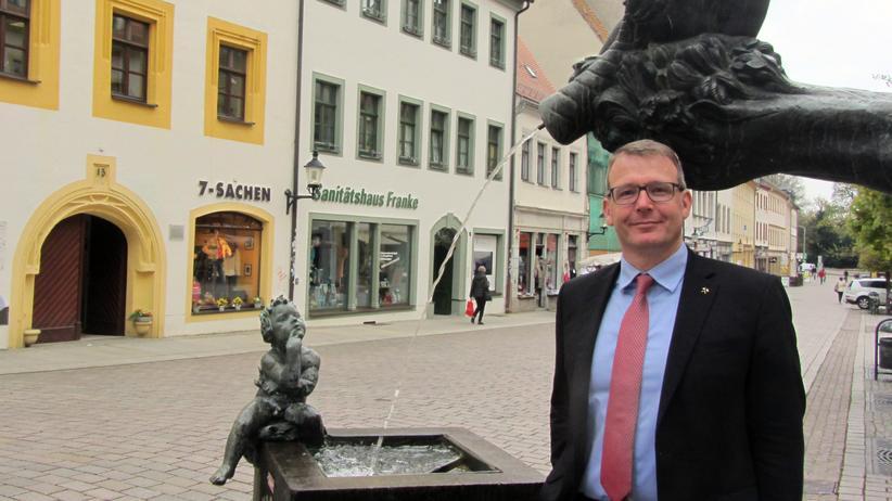 Flüchtlingspolitik: Sven Krüger in Freiberg
