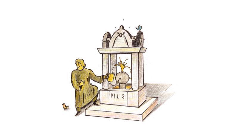 Wittenberg: In Wittenburg wird ein Brunnen so umgebaut, dass er bald nicht nur Wasser spendet, sondern auch Pils.