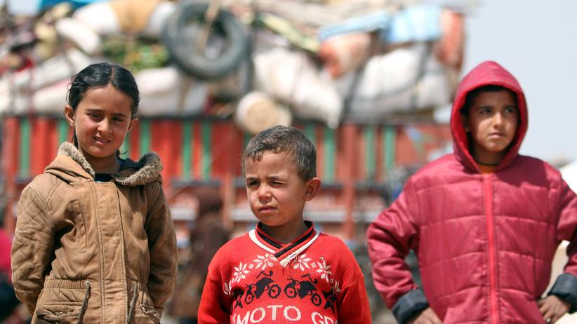 Unicef: Die syrischen Kinder sind aus Raqqa in ein Camp nahe Aleppo geflohen.