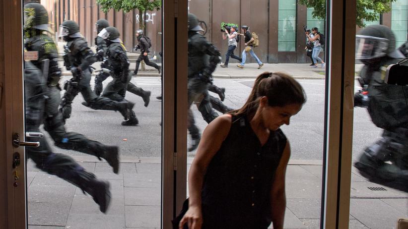 G20: Polizei im Einsatz in Hamburg, 7. Juli 2017