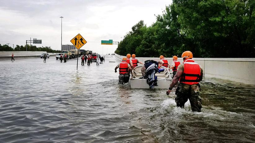 Hurrikan Harvey: Rettungseinsatz der Nationalgarde in Texas