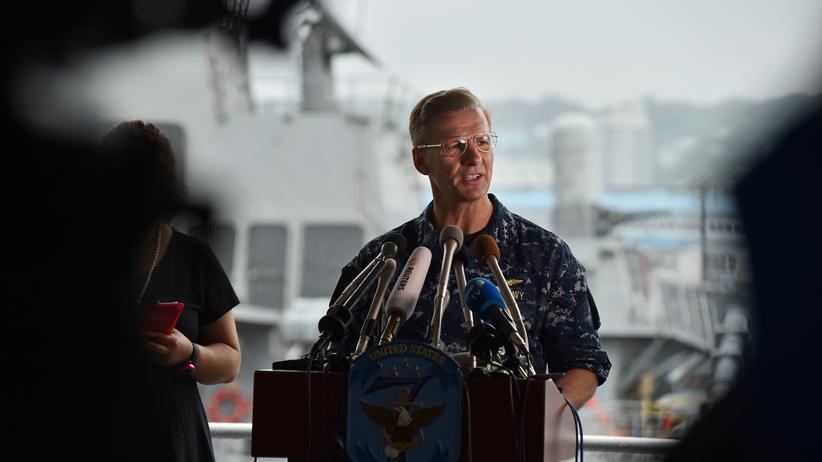 United States Navy: Vizeadmiral Joseph Aucoin in Tokio