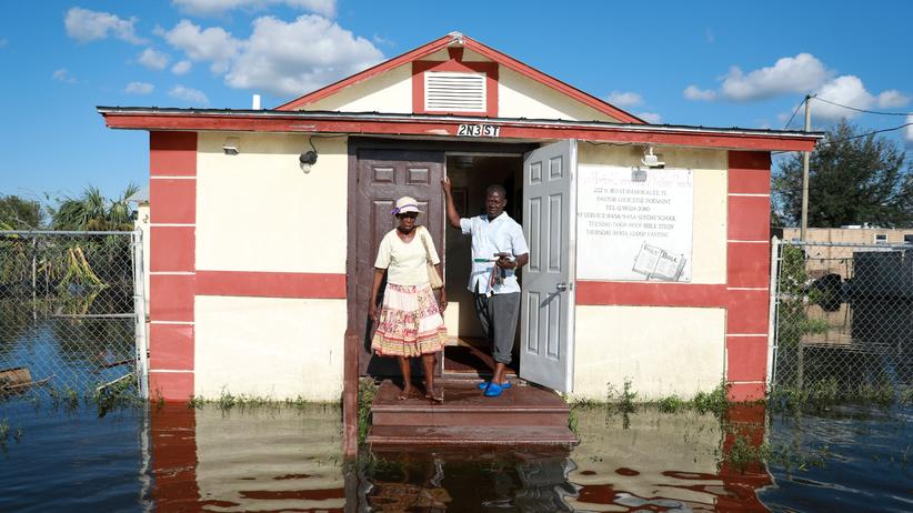 Guadeloupe: Hurrikan Irma hat die Kirche von Pastor Louicesse Dorsaint und seiner Frau Maria Dorsaint in Florida überflutet – jetzt nähert sich der nächste Tropensturm.