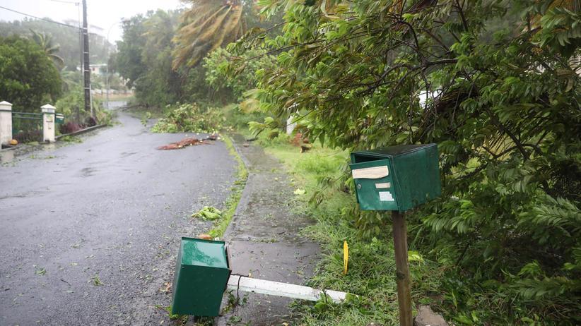 Hurrikan Maria: Der Hurrikan Maria hat die Karibikinsel Guadeloupe erreicht