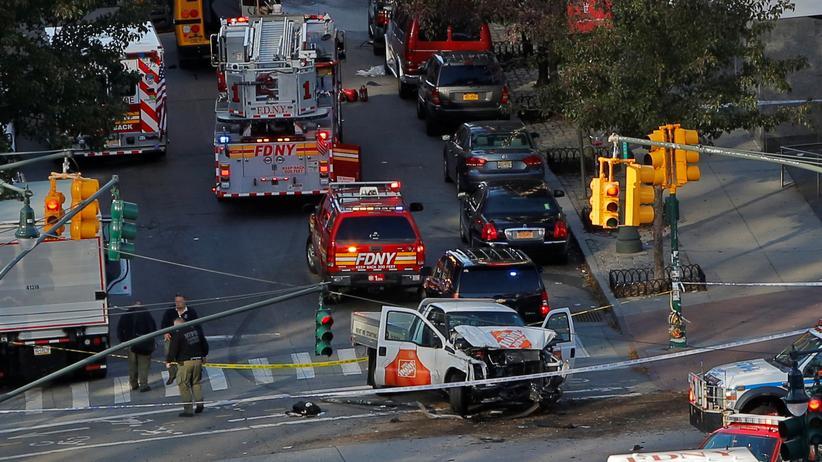 New York: Kleinlasterfahrer tötet acht Menschen in Manhattan
