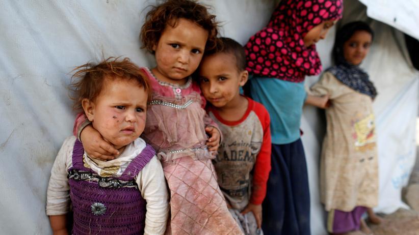 Unicef: Kinder in einem Flüchtlingslager in Sanaa