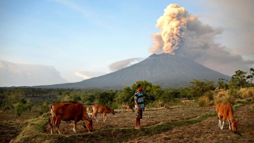 Vulkanausbruch, Bali