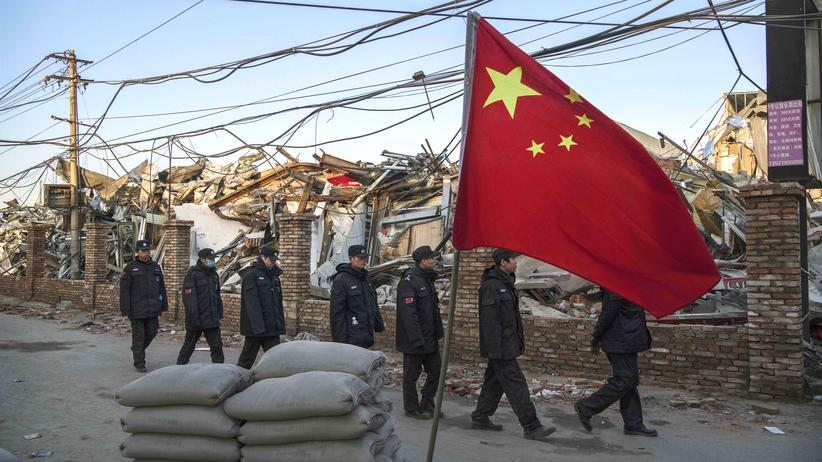 Peking: Abgerissene Behausungen von Wanderarbeitern im Daxing-Viertel von Peking, Dezember 2017